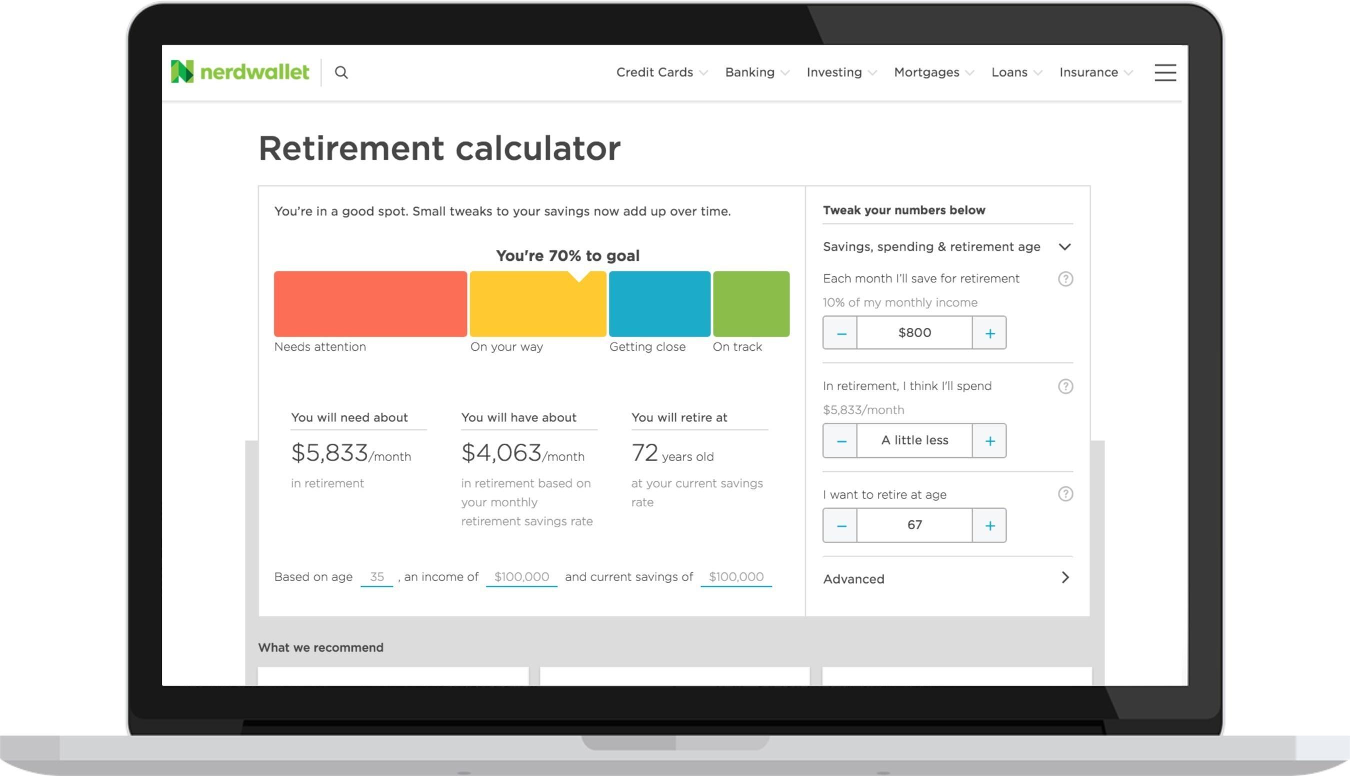 NerdWallet's Retirement Calculator