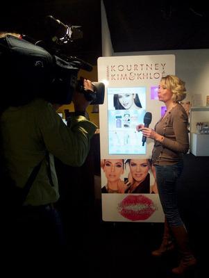 AVT (AVTC) Automated Cosmetics Center for Kim, Kourtney and Khloe Kardashian.  (PRNewsFoto/AVT, Inc.)
