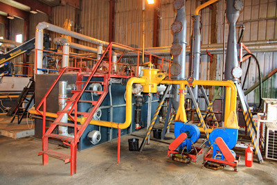 Pirotex tire recycling pyrolysis plant.  (PRNewsFoto/Technokomplex)