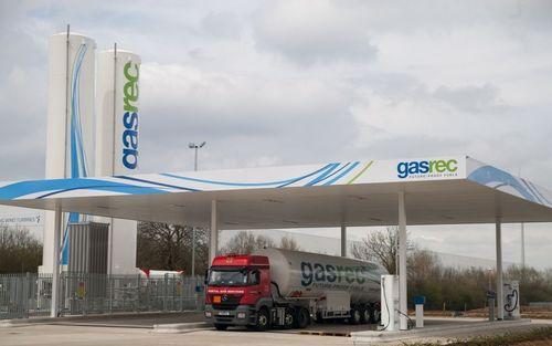 Gasrec UK's first Bio LNG refuelling station (PRNewsFoto/Gasrec)