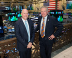 Jeffrey Sprecher, Chairman and CEO, ICE, and Duncan Niederauer, President, ICE and CEO, NYSE on the New York Stock Exchange trading floor.  (PRNewsFoto/IntercontinentalExchange)