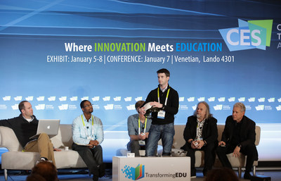 Panelists at the 2016 TransformingEDU Summit at CES in Las Vegas.  Administrators, technologists, researchers, academics, and journalists in the field of education and technology, are urged to attend the  Summit at CES 2017, which is the only conference devoted to the role technology plays in the future of education