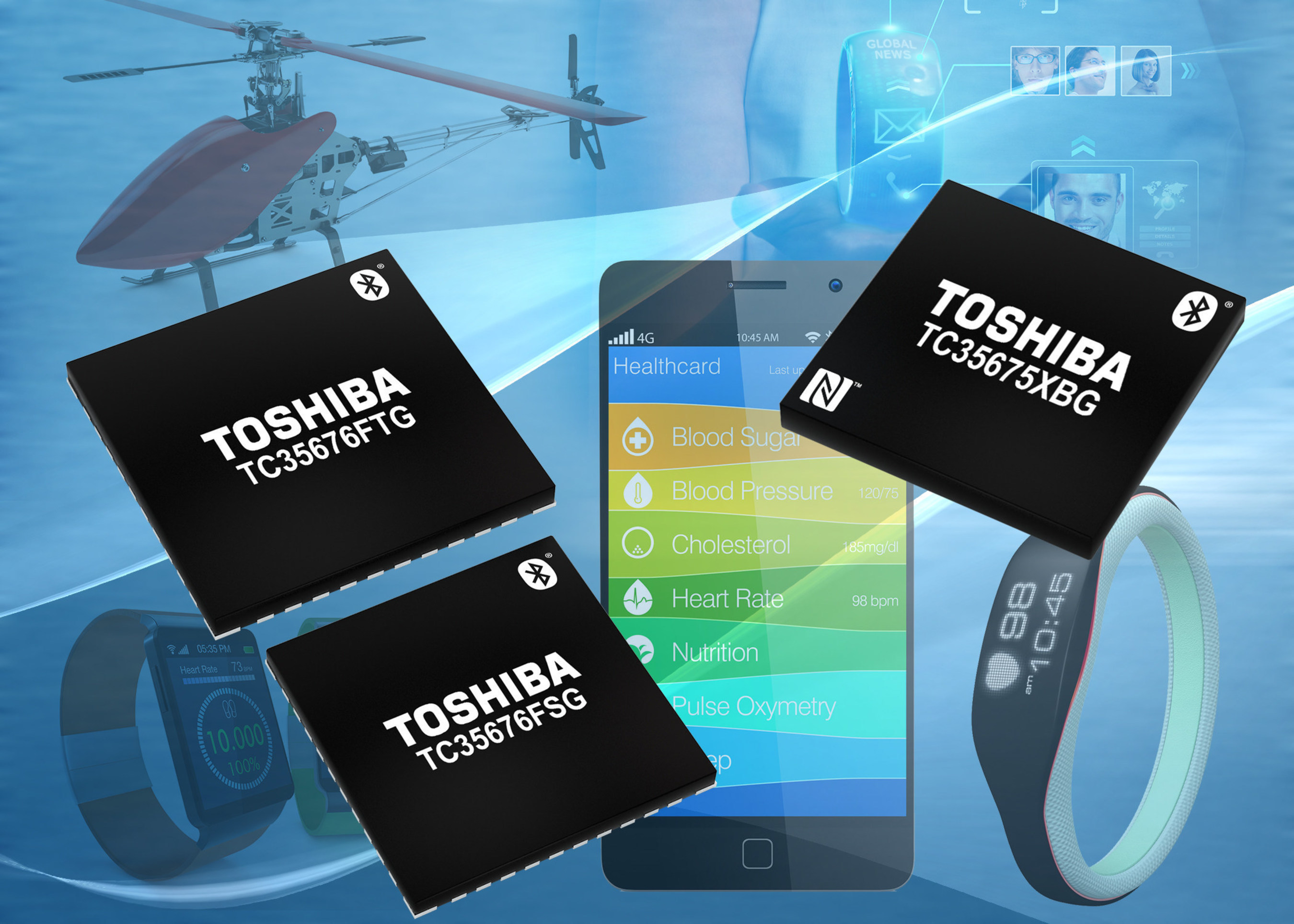 New Toshiba ICs For Bluetooth' Smart Devices Facilitate Adoption Of Communication Functions In Wearables
