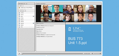 MBA@UNC provides the same rigor and quality of UNC Kenan-Flagler's on-campus MBA programs using an innovative technology platform. UNC Kenan-Flagler professors teach the courses, which include live classes and self-paced content and are based on the rigorous curriculum of the residential MBA program. Courses are delivered using an advanced online learning platform that includes original broadcast-quality video, self-paced lectures, interactive case studies and collaborative activities that foster teamwork. UNC Kenan-Flagler collaborates with 2U Inc., which provides the technology platform, instructional design, marketing and infrastructure and technical student support to deliver the classes online.