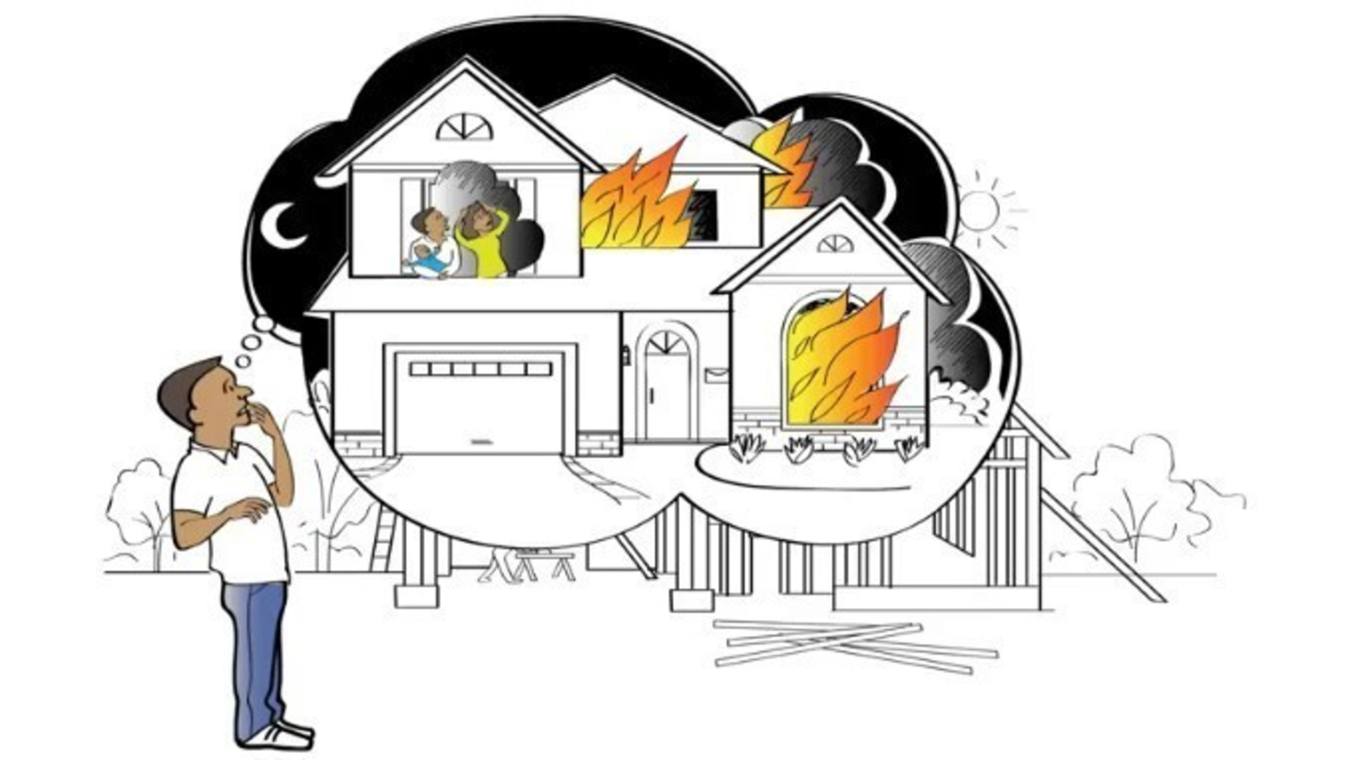 Still image of the educational video about home fire sprinklers