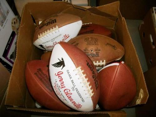 Former NFL head coach Jerry Glanville will host a living estate sale on May 15-17 at his lake house in Dawsonville, Ga. Among the items for sale are one-of-a-kind collectibles, including several of Glanville's game balls - all printed with his name,  ...