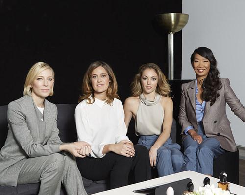 Cate Blanchett, Cecile Schmollgruber, Charlotte Ranson, Kee Yoon Kim (C)Antoine Passerat (PRNewsFoto/Giorgio Armani Parfums)