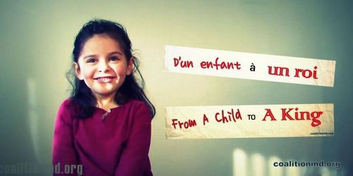 Four-year-old Jessica Saba from Canada pleads with the King of Belgium not to sign the euthanasia law for children (Photo credit: coalitionmd.org) (PRNewsFoto/Physicians for Social Justice)