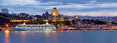 Crystal Serenity plans to dock near downtown Quebec City, where Crystal Symphony has enjoyed prime views during its previous years' visits.  (PRNewsFoto/Crystal Cruises)
