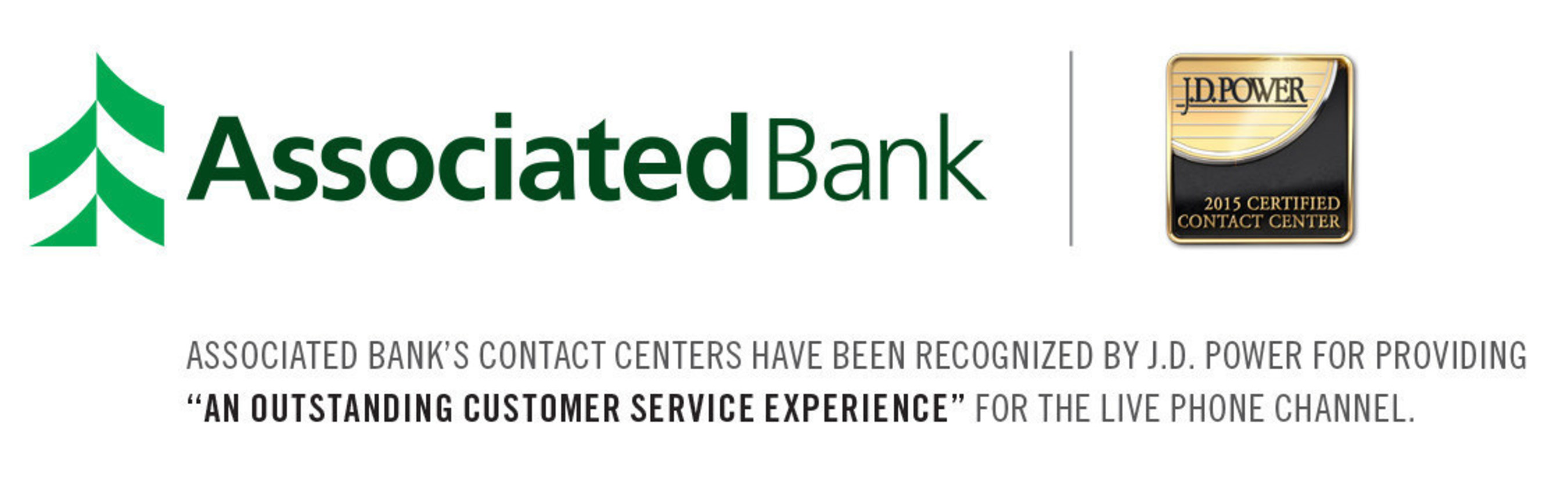 Associated Bank Contact Centers Certified By Jd Power