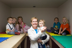 Nancy Goodrich's strong commitment to emergency preparedness at her Moore, Okla., child-care center protected dozens of children from harm during last year's tornadoes. Photo by Brett Deering/Getty Images (PRNewsFoto/Save the Children)