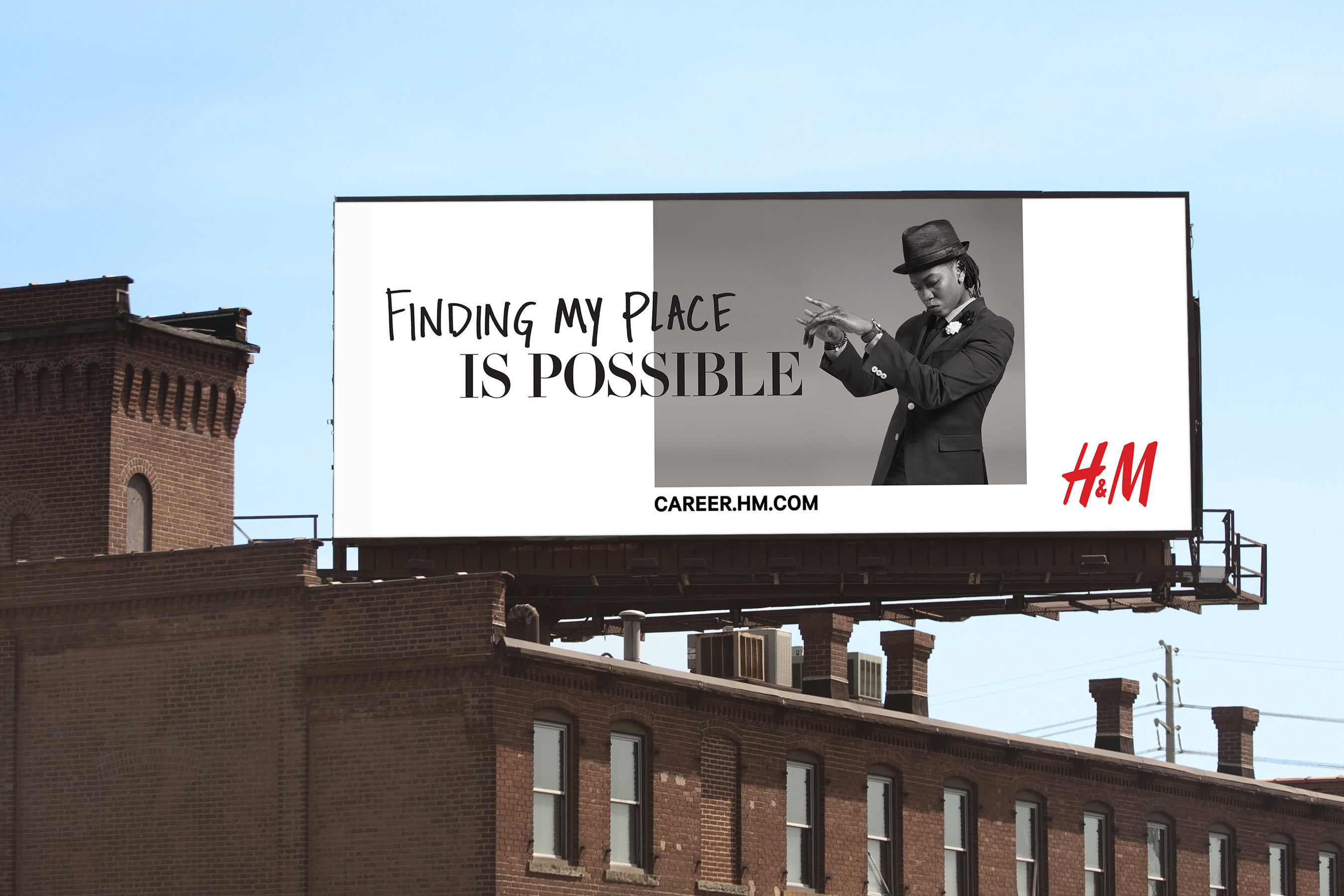 """Billboard, H&M """"Place of Possible"""" Recruiting Campaign"""
