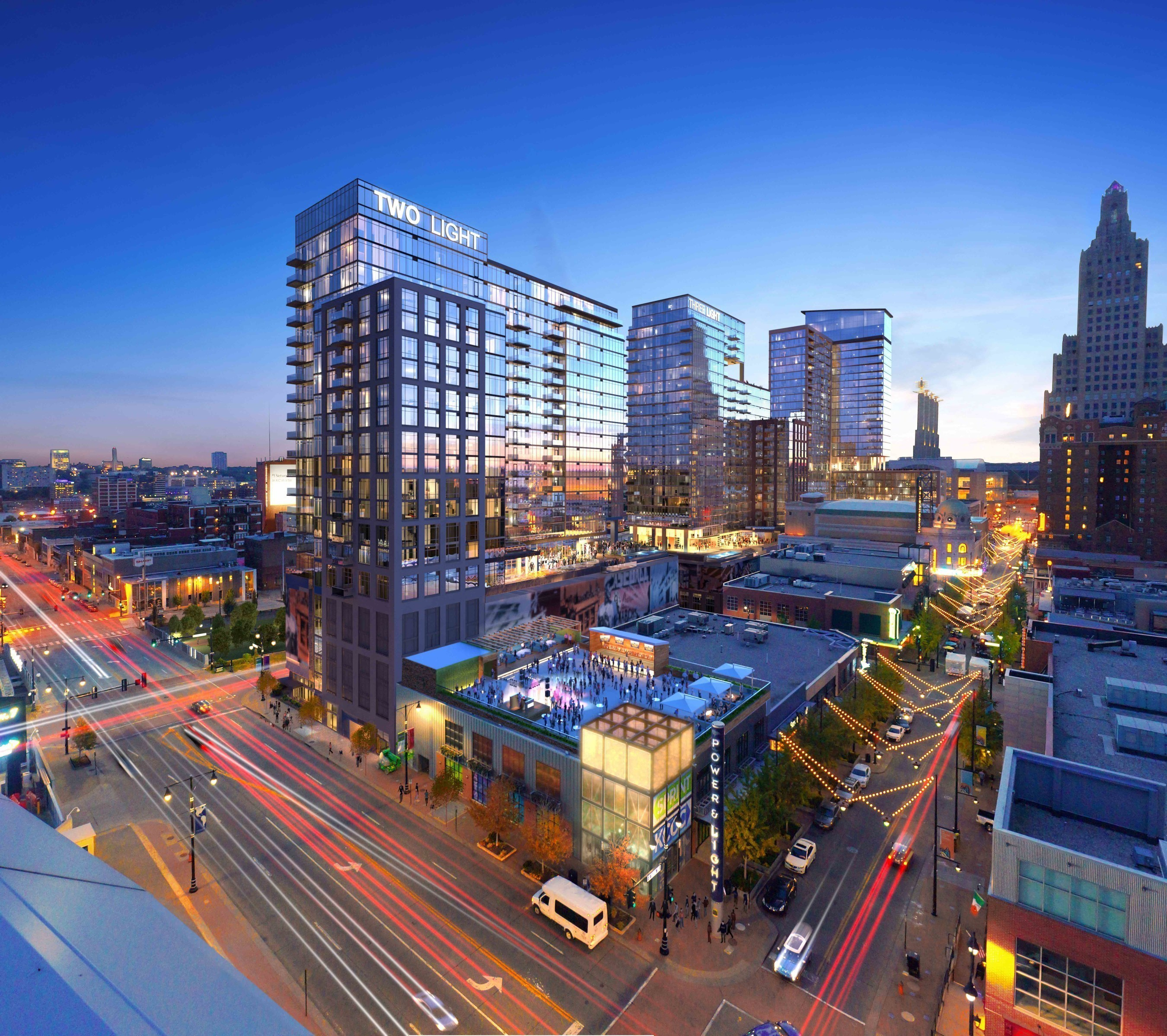 Scheduled to open Spring 2018, Two Light will join One Light as the second new construction high-rise apartment building in the last 50 years in downtown Kansas City, MO
