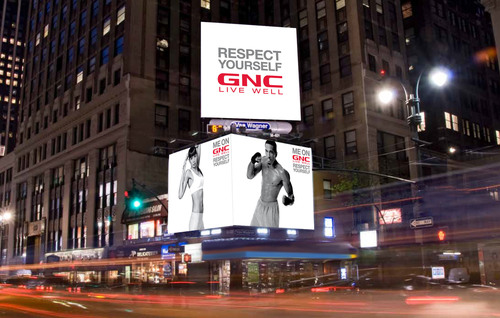 GNC High Profile Outdoor. (PRNewsFoto/GNC Holdings, Inc., Peter Arnell) (PRNewsFoto/GNC HOLDINGS, INC.)