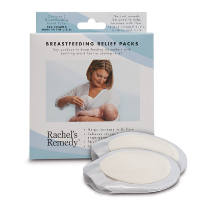 Rachel's Remedy Breastfeeding Relief Packs Provide Instant, Portable Comfort & Preventative Care for Every Nursing MomThe Only FDA-Cleared Product of Its Kind; Now Available Nationwide