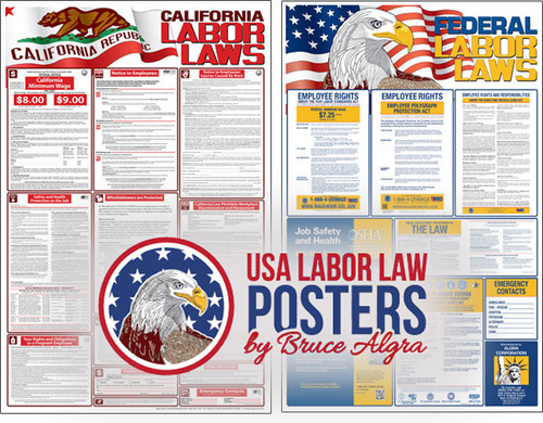 World-renowned poster artist Bruce Algra introduces the first six labor law posters in the planned series of all 50 states. His California Labor Law Poster and Federal Labor Law Poster are both done in beautiful detail and are in high demand for the 2014 year. (PRNewsFoto/USA Labor Law Posters) (PRNewsFoto/USA LABOR LAW POSTERS)
