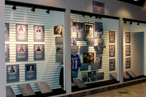 First Ever Sportsmanship Exhibit Launches at The Sports Museum: Made Possible by Hood Milk. (PRNewsFoto/HP Hood) (PRNewsFoto/HP HOOD)