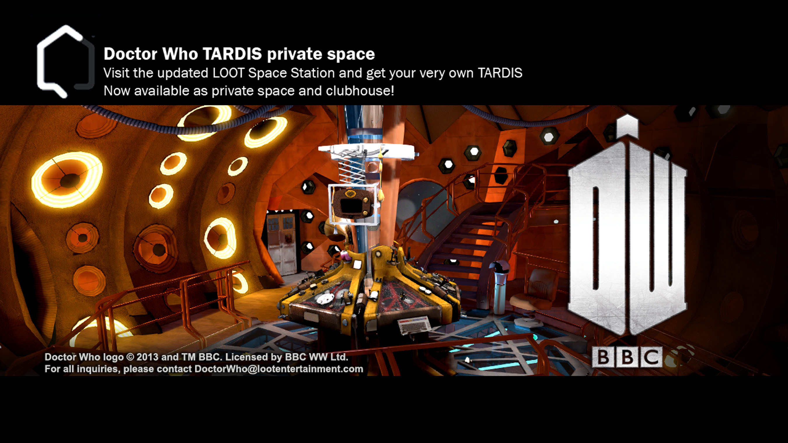 Doctor Who TARDIS Private Space Now Available. (PRNewsFoto/Sony DADC New Media Solutions) (PRNewsFoto/SONY DADC NEW MEDIA SOLUTIONS)