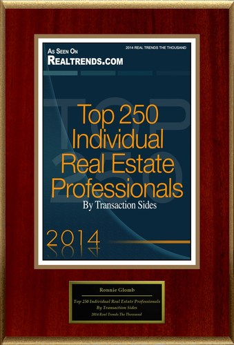 """Ronnie Glomb Selected For """"Top 250 Individual Real Estate Professionals By Transaction Sides"""" ..."""