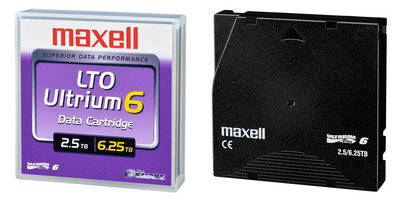 Maxell's LTO Ultrium 6 (LTO 6) data cartridge.  (PRNewsFoto/Maxell Corporation of America)