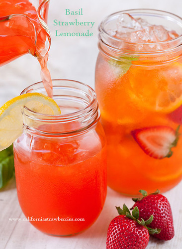 Basil strawberry lemonade (PRNewsFoto/California Strawberry Commission)