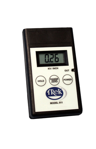 Trek's new field meter (Model 511) is designed for testing and auditing of electrostatic fields in ...