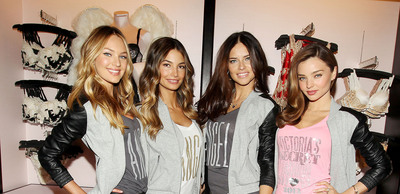 Victoria's Secret Angels Reveal The Newly Reopened Herald Square Store.  (PRNewsFoto/Victoria's Secret)