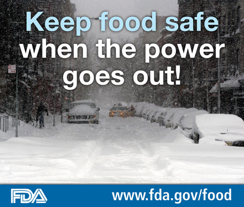 Keep food safe when the power goes out! Learn how at www.fda.gov/food. (PRNewsFoto/U.S. Food and Drug ...