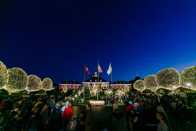 Gaylord Opryland Resort turns on 2.3 million holiday lights, ushering in its annual A Country Christmas celebration.