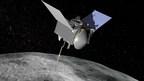 Artist's conception of NASA's Origins, Spectral Interpretation, Resource Identification, Security - Regolith Explorer (OSIRIS-REx) spacecraft at the asteroid Bennu.