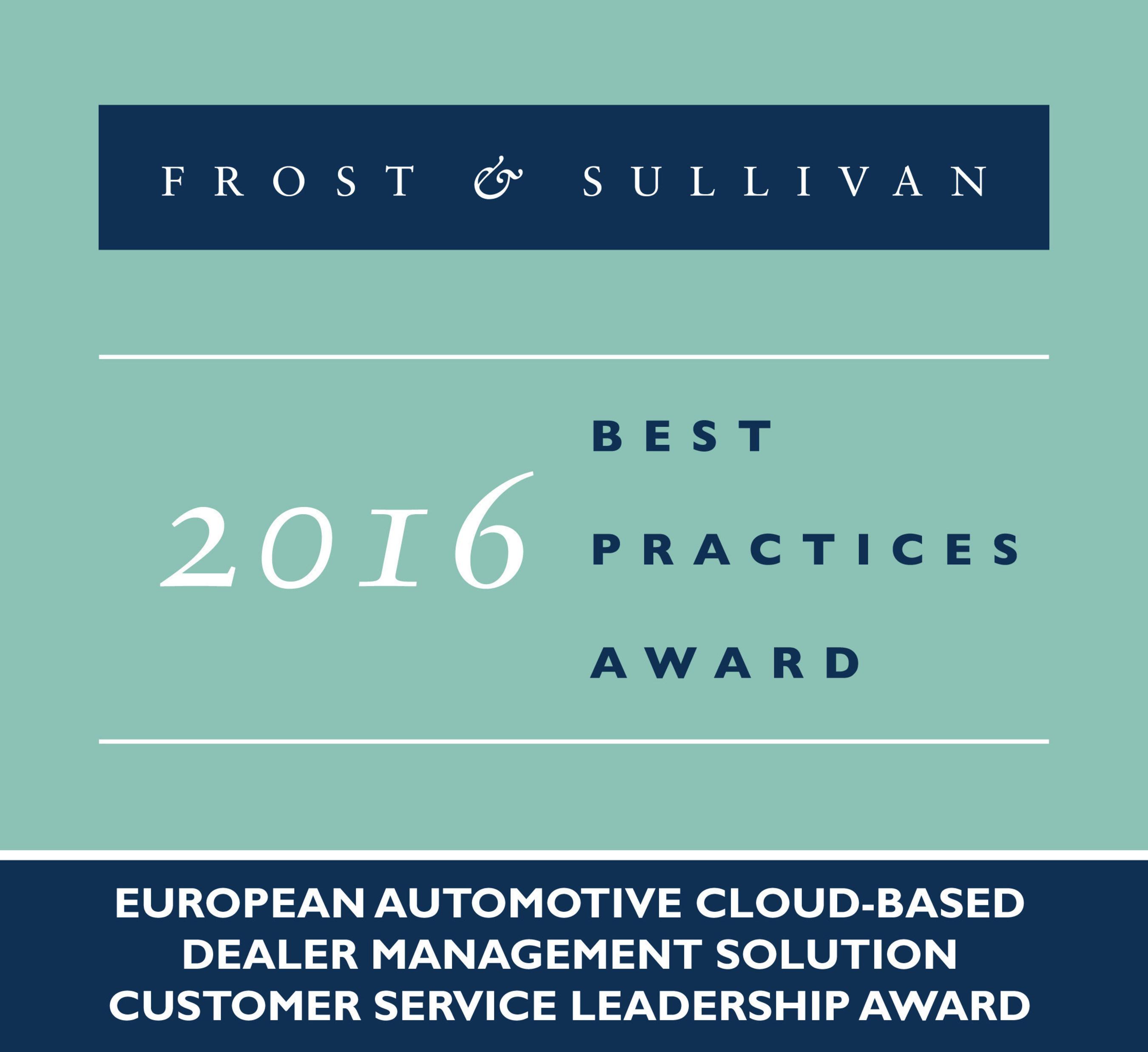 2016 European Automotive Cloud - based Dealer Management Solution Customer Service Leadership Award