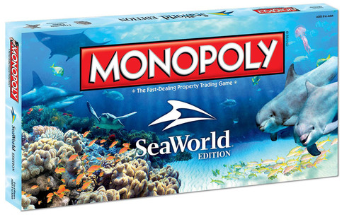 """SeaWorld Parks & Entertainment announce a first-of-its-kind MONOPOLY(R): SeaWorld Wildlife Conservation Edition, a new version of America's favorite board game that rewards players who invest in animals' natural habitats. In this edition, traditional Chance and Community cards become """"SeaWorld Cares"""" and """"SeaWorld Rescue"""" cards, while the game's houses and hotels have been transformed into animal research and rescue facilities.(PRNewsFoto/SeaWorld Parks & Entertainment)"""