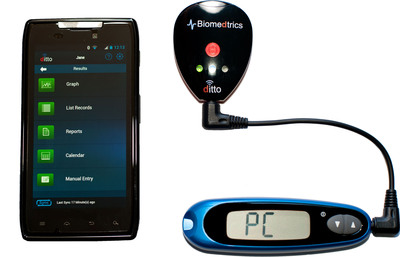 ditto Glucose Data System.  (PRNewsFoto/Biomedtrics, Inc.)