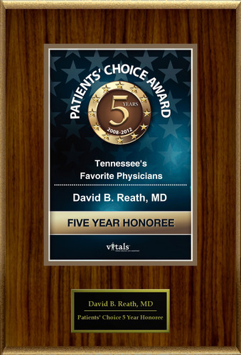 Dr. David Reath of Knoxville, TN is a Five-Time Patients' Choice Honoree.  (PRNewsFoto/American Registry)