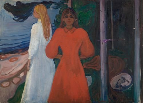 Edvard Munch: Red and White, 1899-1900.Oil on canvas.93.5 x 129 cm.Munch Museum, Oslo.MM M 460 (Woll M 463)(c) Munch Museum / Munch-Ellingsen Group / BONO, Oslo 2013Photo: (c) Munch Museum