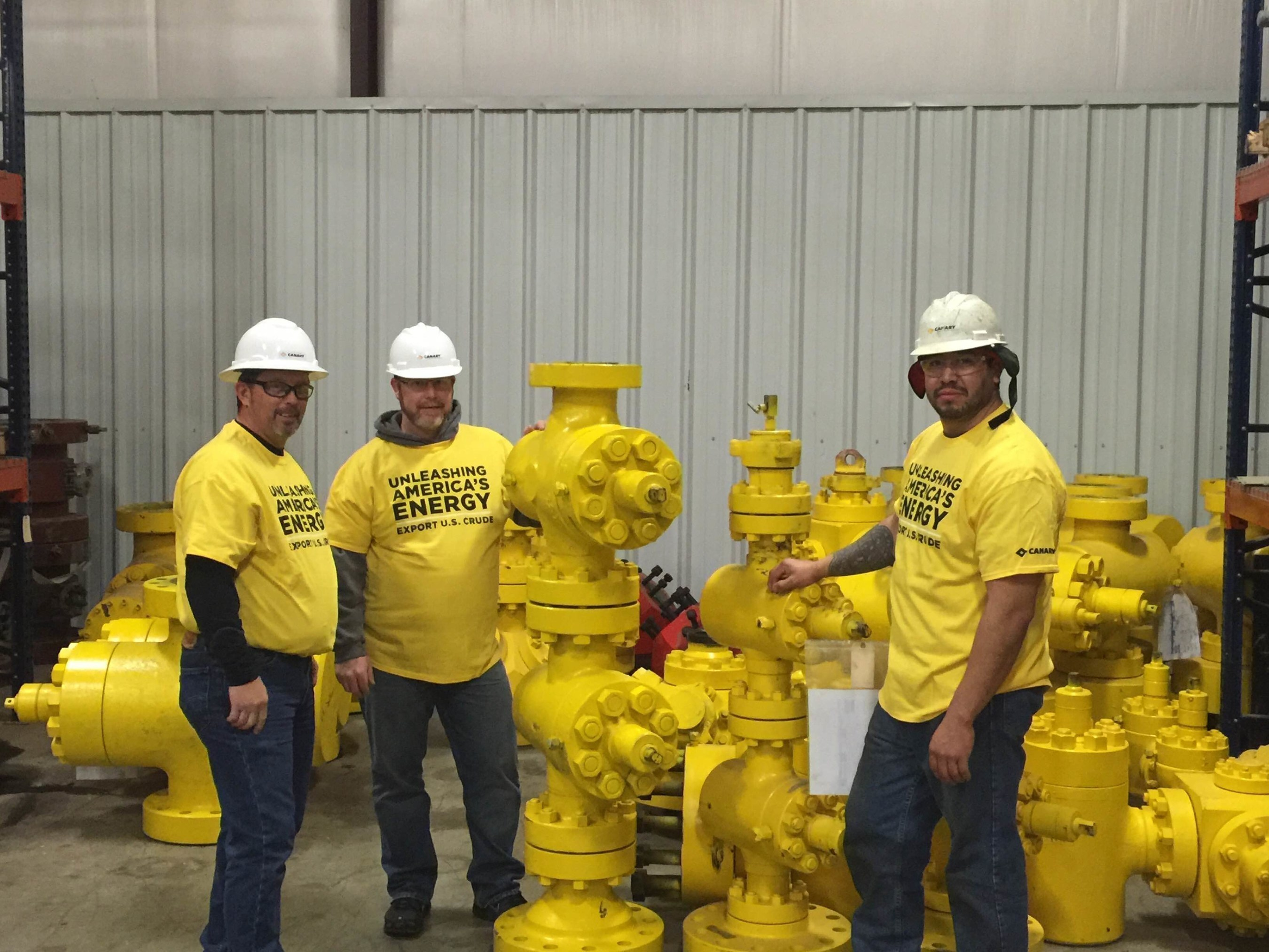 Canary employees supporting the effort to lift the crude oil export ban.