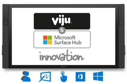 Microsoft selects Viju as a global partner to provide Surface Hub technology for collaborative workspaces (PRNewsFoto/Viju) (PRNewsFoto/Viju)