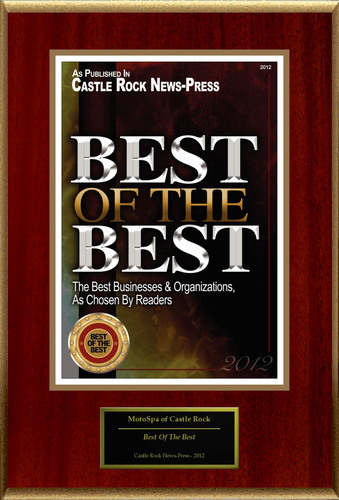 """MotoSpa of Castle Rock Selected For """"Best Of The Best"""". (PRNewsFoto/MotoSpa) (PRNewsFoto/MOTOSPA)"""