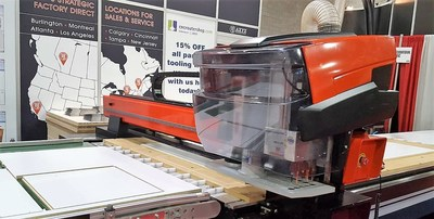 Demonstration of AXYZ International's new Optimus Solution at the International National Woodworking Fair (IWF)