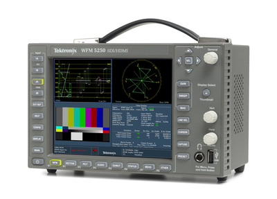 The Tektronix WFM5250, meets the increasing need to truly verify the quality of video the subscriber is viewing. Being the first waveform monitor capable of HDMI with HDCP, the WFM5250 enables monitoring video and audio outputs of set-top boxes (STB), allowing operators to get the complete view of picture quality and gain the ability to determine exactly where issues impacting service.  (PRNewsFoto/Tektronix)