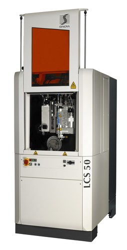 Synova's second generation Laser MicroJet(R) cutting system LCS 50 integrates several technological upgrades, a more powerful laser and the new SynovaCut CAD/CAM module together with a modern, smart-phone-like HMI. The new 5-axis LCS 50 with comprehensive software package is designed for automatic diamond tool production. It offers fast cutting, easy processing, and high-precision cutting, drilling, grooving or slicing as well as 3D ablation for chip breakers, chamfering for K-land edges and multiple clearance angles. (PRNewsFoto/Synova S.A.)