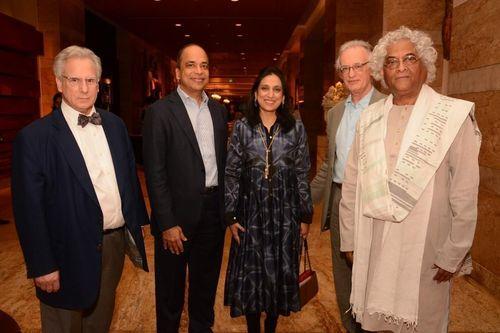(L-R) Jeffery LaRiche, Arun Saraf, Namita Saraf, Julian Raby, Rajeev Sethi (PRNewsFoto/Hyatt Hotels Corporation)