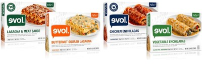 EVOL(R) Foods Announces New Lasagnas And Gluten-Free Enchiladas