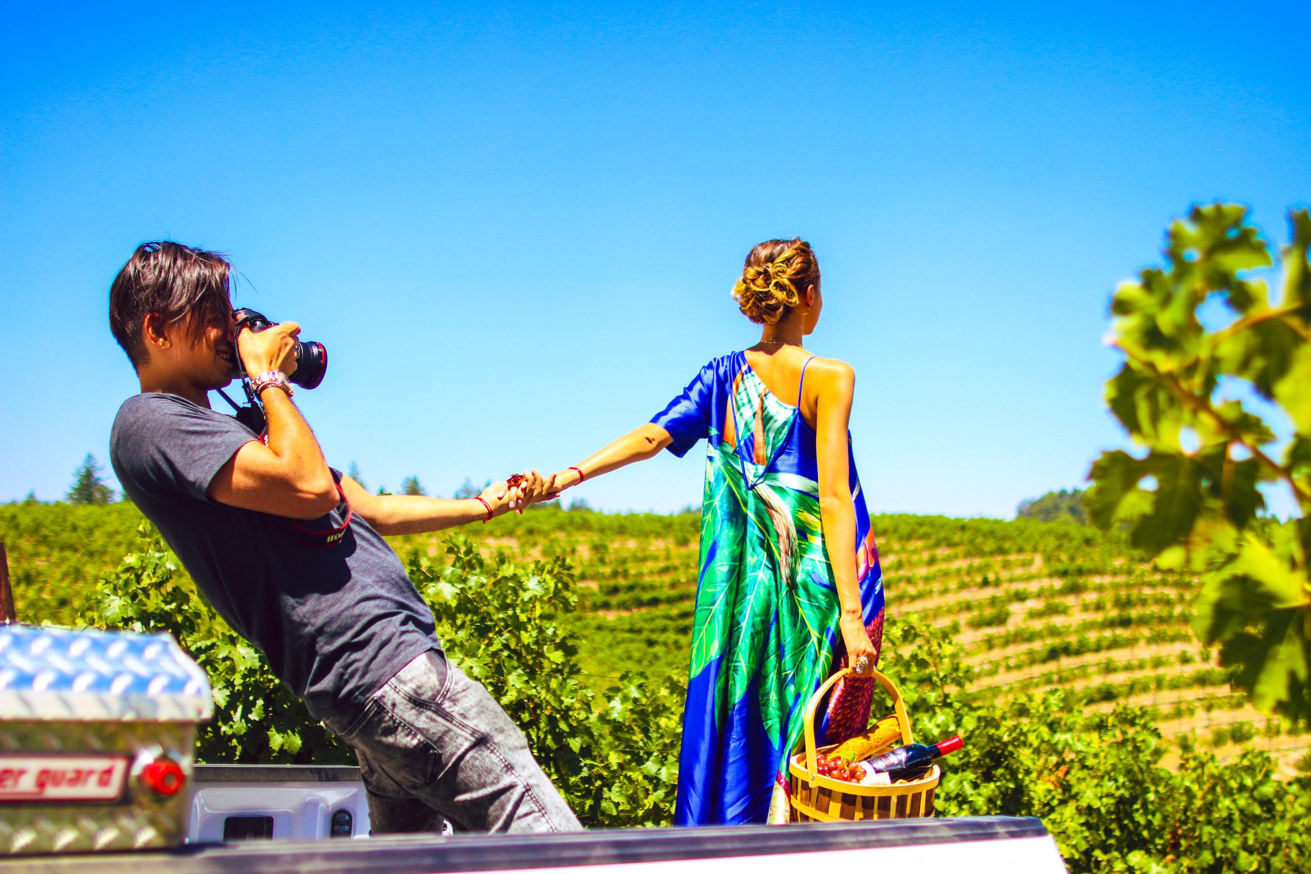 Renowned #FollowMeTo Photographer Shoots New Beringer Vineyards Advertising Creative