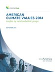 ecoAmerica's American Climate Values 2014, Insights by Racial and Ethnic Groups (PRNewsFoto/ecoAmerica)