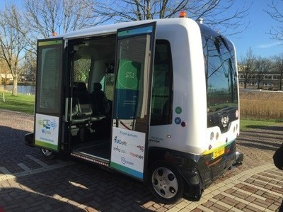 WEpods, the first entirely autonomous vehicles to mingle with normal traffic, incorporate Elektrobit software and Mapscape digital maps.