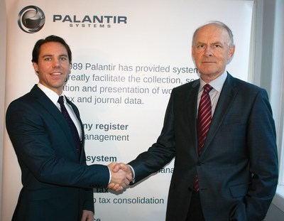 Peter Ohling (CEO) and Ulf Lilja (departing CEO) (PRNewsFoto/Palantir)