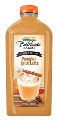 Bolthouse Farms Pumpkin Spice Latte.(PRNewsFoto/Bolthouse Farms)