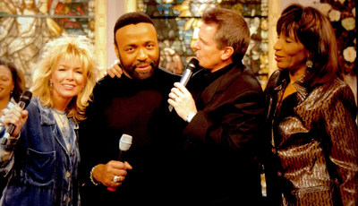 Matthew and Laurie Crouch with Andrae Crouch and his twin sister Sandra.