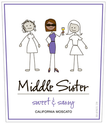 Canopy Management Wine Company Introduces Middle Sister Sweet and Sassy Moscato.  (PRNewsFoto/Middle Sister Wines)